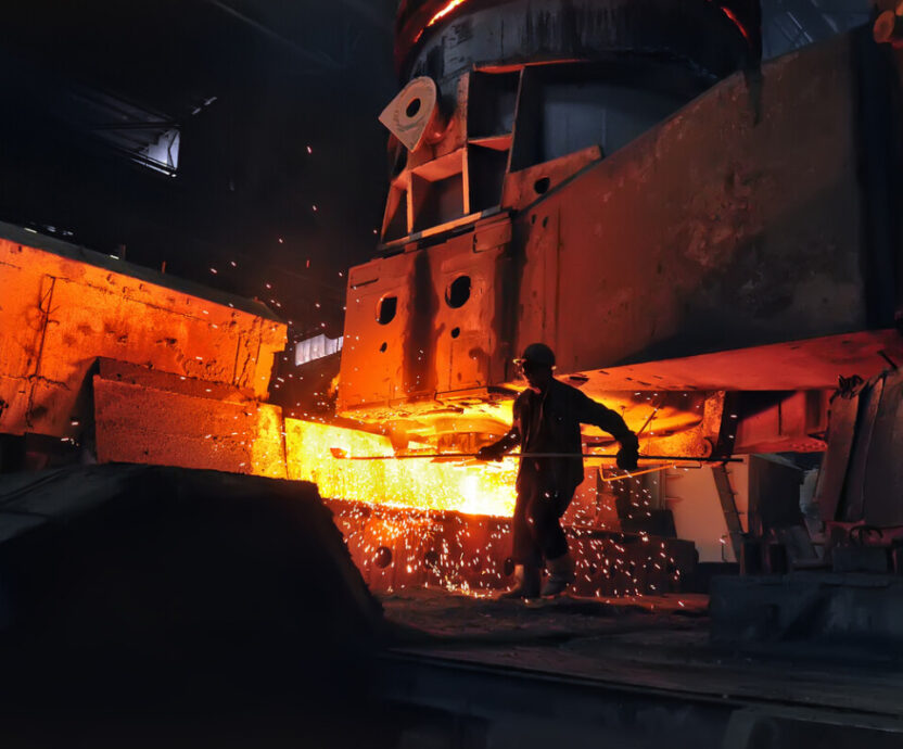 heavy industry metallurgical metallurgist at work