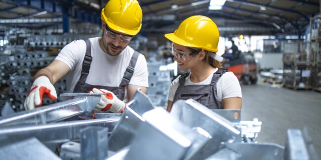 Employees engaging in a strong culture of quality