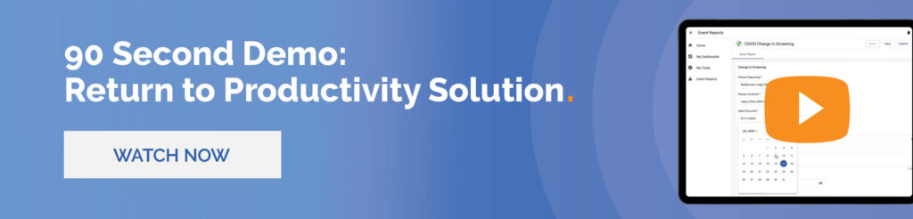 COVID-19 Return to Work and Productivity SaaS Solution