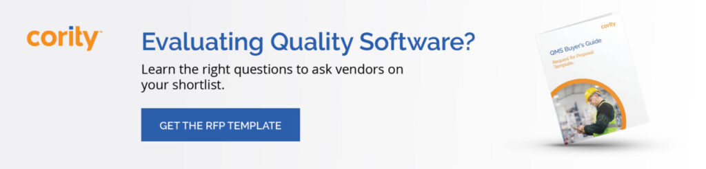 Quality Management Software evaluation template