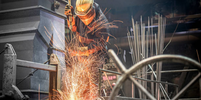 This welder completed a risk assessment before working on this task
