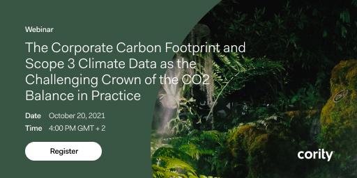 Join sustainability experts from Sustainalize and Cority to gain insight into the world of corporate carbon footprinting and its requirements for professional data management