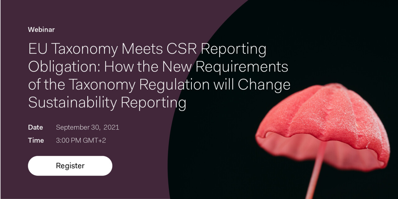 Learn what effects and requirements the EU Taxonomy will have on sustainability reporting